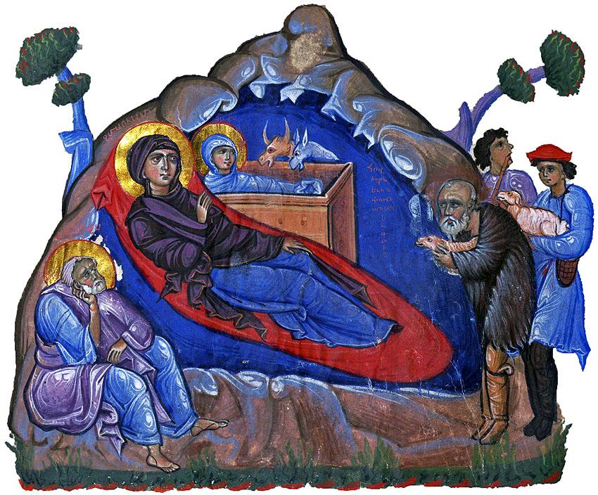 Nasterea Domnului, evangheliar armean 1262 iN