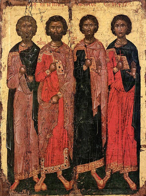 Sfinţii Candid, Eugen, Valerian şi Aquila, Mănăstirea Dionisiou, Athos, 1597
