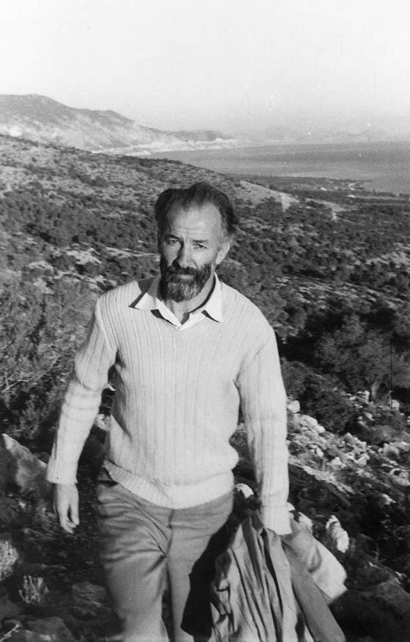 Philip Sherrard, walking in Greece IN