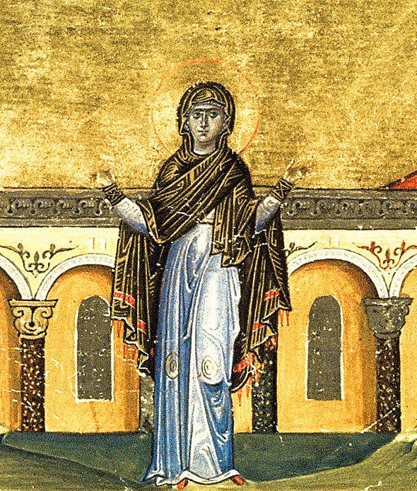 Sfânta Singlitichia din Alexandria (Menologhionul Împăratului Vasile al Il-lea)