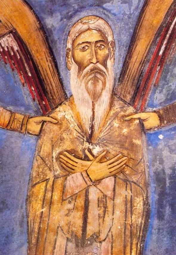 Sfântul Neofit - frescă din biserica mănpstirii Sfântului Neofit din Pafos, Cipru