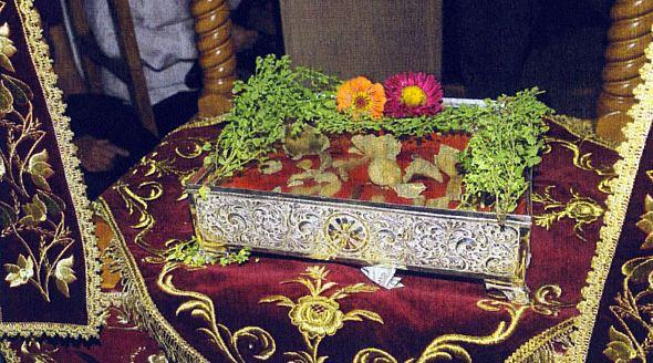 Răcliţă cu moaştele Sfintei Mucenite Kyranna