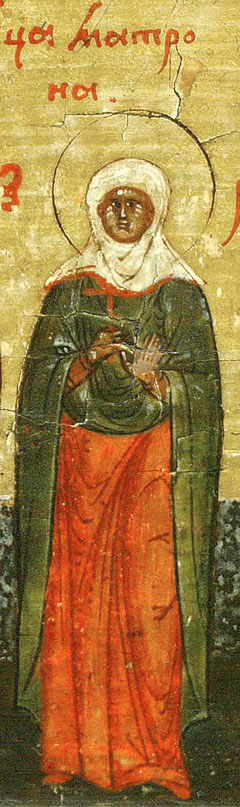 Sfânta Matrona - Minei rusesc, secolul XVII
