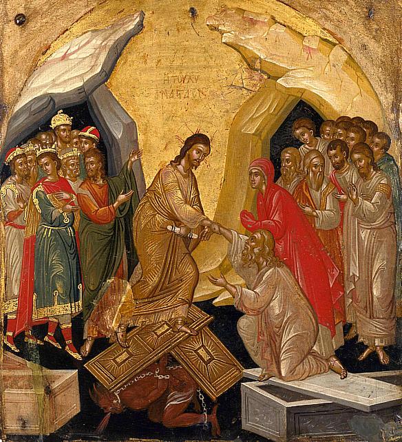 Invierea Domnului, de Markos Bathas 1498-1578 - Veneţia, Museum of the Hellenic Institute of Byzantine and post-Byzantine Studies