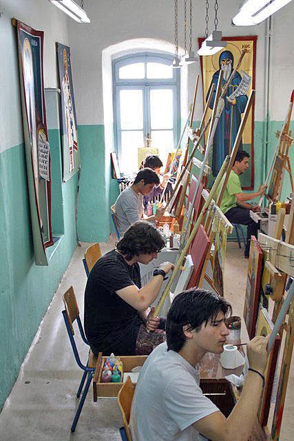 Atelierul de iconografie al Școlii Athoniada