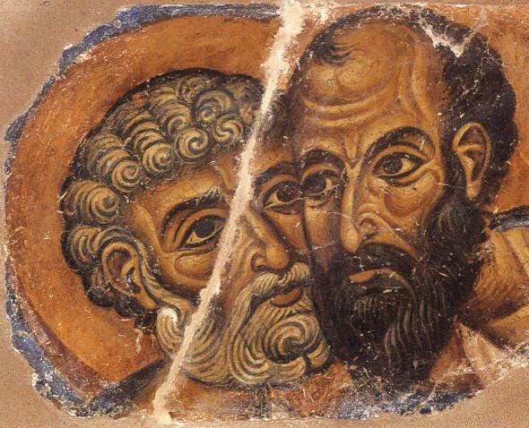 Sfinții Apostoli Petru și Pavel - Frescă, Sfânta Mare Mănăstire Vatopedi