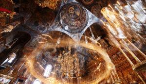 Transmitere în direct a privegherii Nașterii Domnului de la Sfânta Mănăstire Vatopedu
