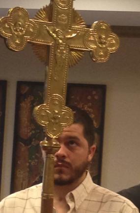 Jeremiah la prima sa Sfântă Liturghie după accident