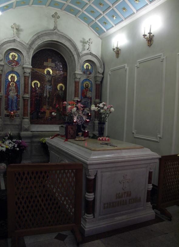 Mormântul Sfintei Xenia - interior