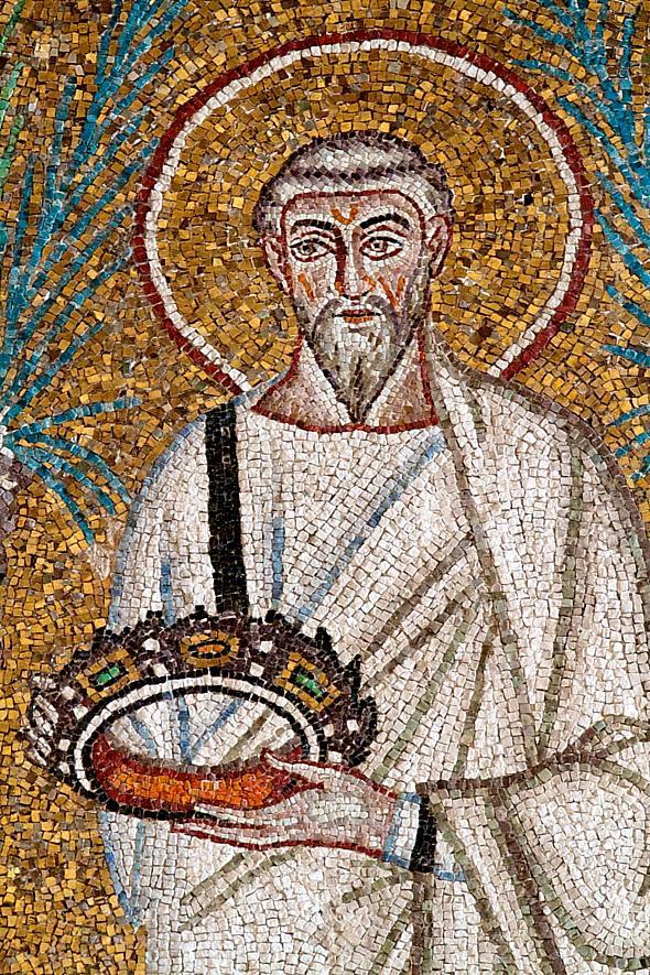 Sfantul Policarp al Smirnei – Basilica di Sant'Apollinare Nuovo, Ravenna, sec VI