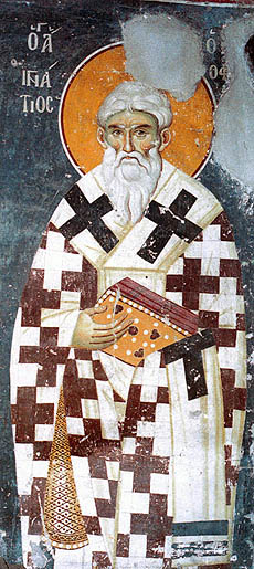 Ignatie , fresca de Manuil Panselinos, Protaton, 1290 small