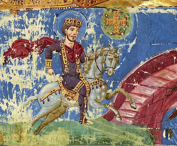 Constantin cel Mare - manuscris al Omililor Sfântului Grigorie Teologul, s9, BNF
