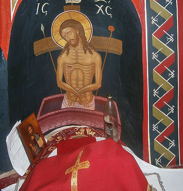 altar in proscomidiar