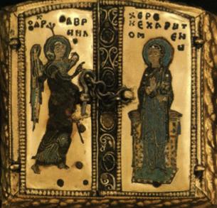 Tripticul bizantin din partea superioară (închis).