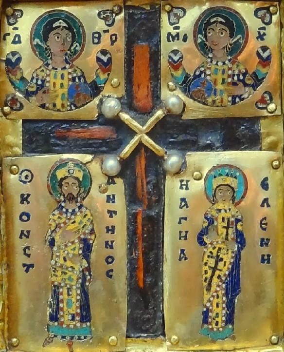 Cinstitul Lemn de pe tripticul bizantin din partea inferioară