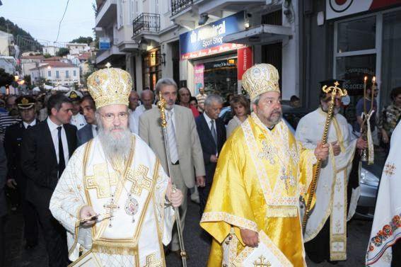 Mitropolitul Ierotheos al Nafpaktului şi Mitropolitul Policarp al Spaniei şi Portugaliei