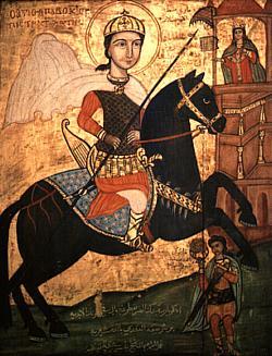 Victor IN 3 - Sfântul Mucenic Victor Stratilat, icoană coptă