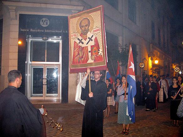 procesiune cu icoana sf nicolae, Havana, Cuba