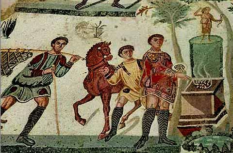 Împăratul Maximian jerfind zeiţei Diana