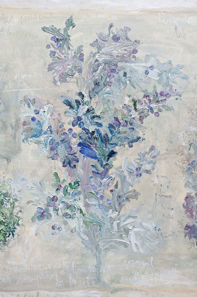 Copacul Cunostinței(Florile Raiului,detaliu),ulei ,panza,120x420cm,2015 1000